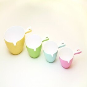 4pce Melamine Measuring Cup Set Cuisena Swing Tag